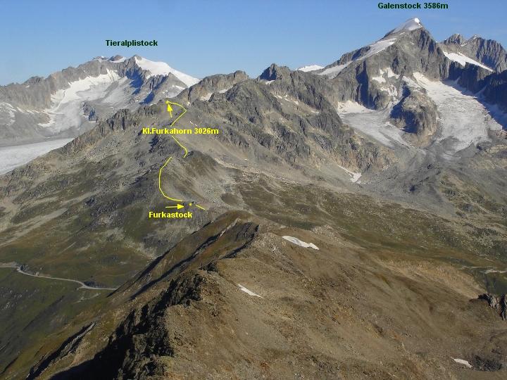 02 September  Hochtour Gross Muttenhorn 3099m ~ und Bergtour Klein Furkahorn 3026m    DSC00024a JPG