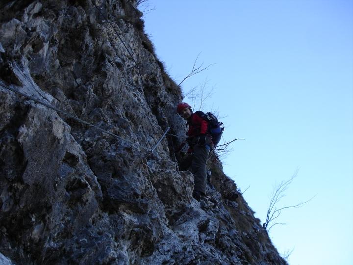 Klettersteig Tessin : März klettersteig monte san salvatore m und